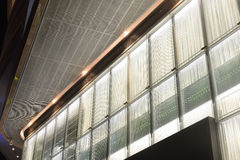 Translucent glass  wall and led  light Royalty Free Stock Photos
