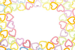 Translucent heart frame Royalty Free Stock Images