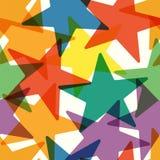 Translucent large colored stars. Festive retro background. Royalty Free Stock Photo