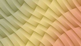 Translucent peach yellow green diagonal lines shapes and curves geometric abstract background royalty free illustration