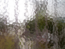 Translucent pentagon frosted glass window Stock Images