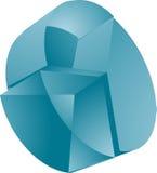 Translucent pie chart Stock Images