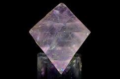 Translucent Purple Fluorite Octahedron Stock Photos