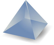 Translucent pyramid stock illustration