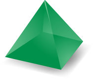 Translucent pyramid Royalty Free Stock Photography