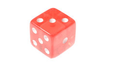 Translucent red die Royalty Free Stock Photos