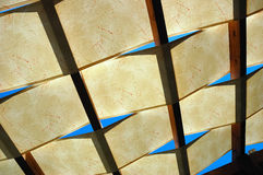 Translucent roof stock image