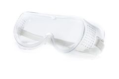 Translucent safety glasses isolated Stock Image