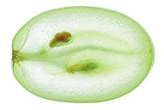 Translucent slice of green grape fruit Royalty Free Stock Photos