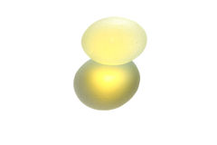 Translucent stone ball and light Stock Images