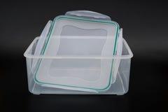 Translucent storage box Stock Photo