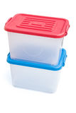 Translucent storage boxes Stock Images