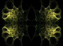 Translucent symmetric nebula complex structured Stock Image