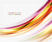 Translucent vector wave line, business or technology template Royalty Free Stock Photography