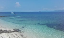 Translucent water Cebu island Philippines. Natural landscapes from Philippines Royalty Free Stock Photography