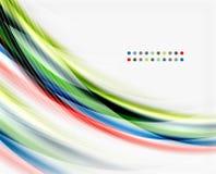 Translucent wave on white background Stock Photos