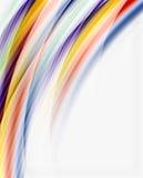 Translucent wave on white background Royalty Free Stock Image