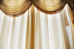 Translucent window curtain Stock Photo