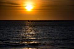 Transmarin soluppgång Arkivfoton