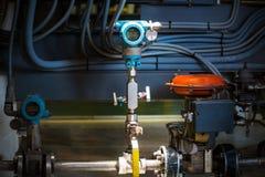 Transmetteur de pression dans l'huile et l'industrie du gaz Photos libres de droits