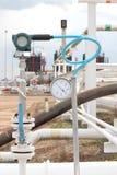 Transmetteur de pression dans le processus de pétrole et de gaz images libres de droits