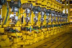 Transmetteur de pression dans le processus de pétrole et de gaz Images stock