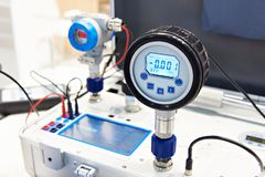 Transmetteur de pression standard photo stock