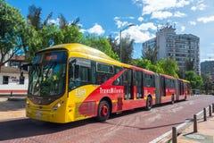 Transmilenio Bus in Bogota Stock Images