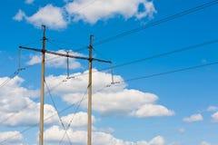 Transmisión de energía eléctrica Imagen de archivo