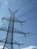 Transmisión de la corriente eléctrica Imágenes de archivo libres de regalías