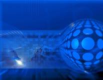 Transmisiones digitales azules   stock de ilustración
