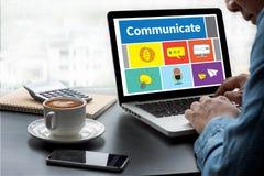 Transmisja Komunikuje Muzyczną ikonę Podłączeniowy use Komunikuje ilustracji