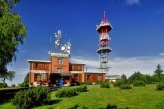 Transmisor Kozakov de la TV Imagen de archivo libre de regalías