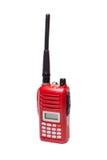 Transmisor-receptor de radio rojo en el fondo blanco imagen de archivo libre de regalías