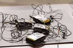 Transmisores del micrófono Imágenes de archivo libres de regalías