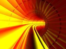Transmissão, córrego na tubulação interior, túnel quente Fotos de Stock