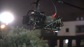 Transmissão da câmara de televisão durante o concerto vivo filme