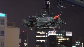Transmissão da câmara de televisão durante o concerto vivo video estoque