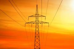 Transmissão da corrente eléctrica Fotos de Stock