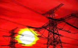 Transmissão de energias solares Fotografia de Stock Royalty Free
