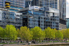 Transmissão de Foxtel em Melbourne foto de stock royalty free