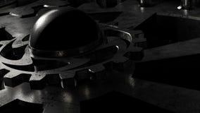 Transmissão de gerencio da engrenagem do canal alfa do close-up do carro ilustração royalty free