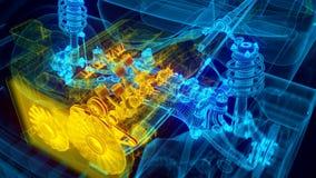 Transmissão do motor de automóveis ilustração stock