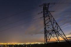 Transmissão e distribuição interurbana do conce da eletricidade imagens de stock royalty free