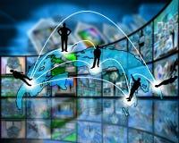 Transmissão transcontinental dos dados Foto de Stock