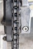 Transmissieketen motorfiets Stock Foto's