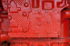 Transmission. Painted red transmission housing of vinatge giant mining truck Royalty Free Stock Photography