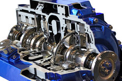 Transmission. Automotive transmission gearbox with lots of details Stock Photography
