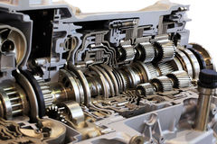 Transmission. Automotive transmission gearbox with lots of details Stock Image