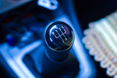 Transmission in car Stock Photo
